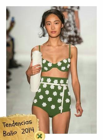 tendencias traje de baño verano 2014