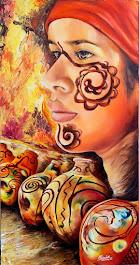 Rostro de Nativa Wayúu