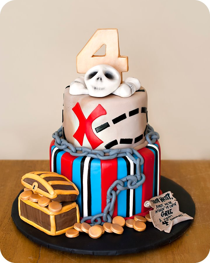 Pirate cake - photo#23