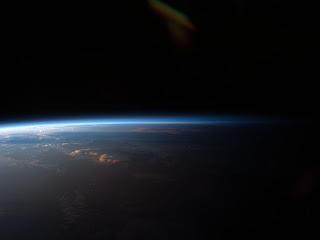 Закат над Южной Америкой, снятый с борта МКС