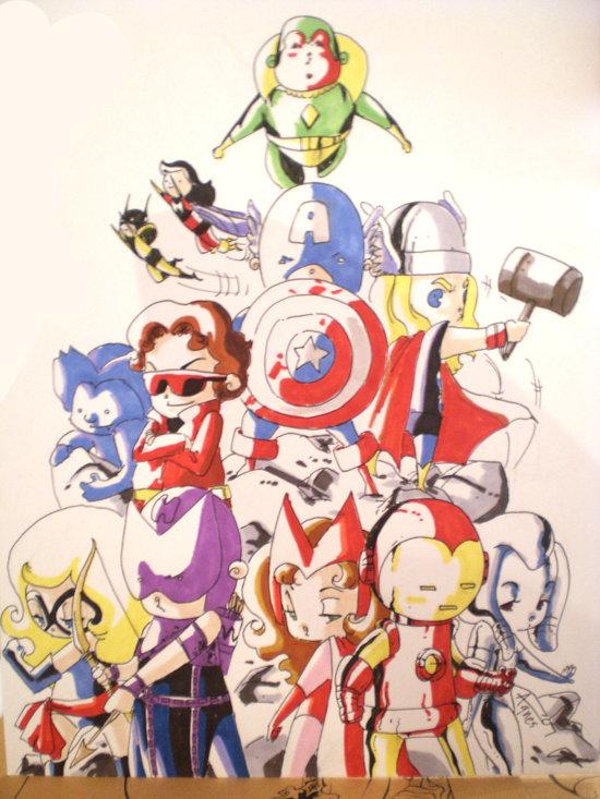 Avengers por Evilwabbit