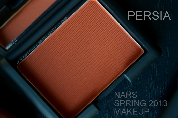 NARS Spring 2013 Makeup Collection Indian Beauty Blog Darker Skin Swatches Photos Persia Single Matte Eyeshadow Paprika Orange