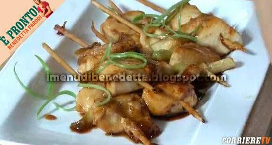 Yakitori, spiedini giapponesi con salsa caramellata, di Benedetta Parodi