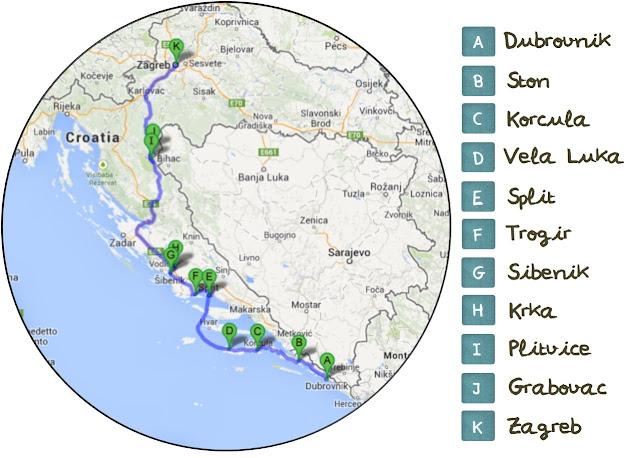 Ruta en coche por Croacia