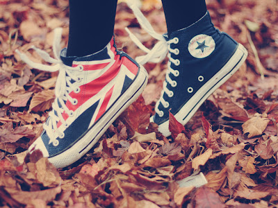 Converse All Star Shoes with England Flag  HD Desktop Wallpaper