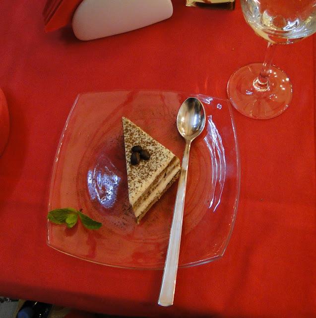 Tiramisu at Bianco Rosso Pasteria Lviv Ukraine
