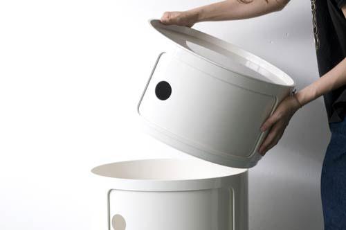 modern interior design: Kartell Componibili Large Round Storage ...