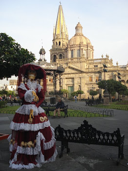 Out for the Sunday Stroll Infront of the Cathedral in Guadalajara