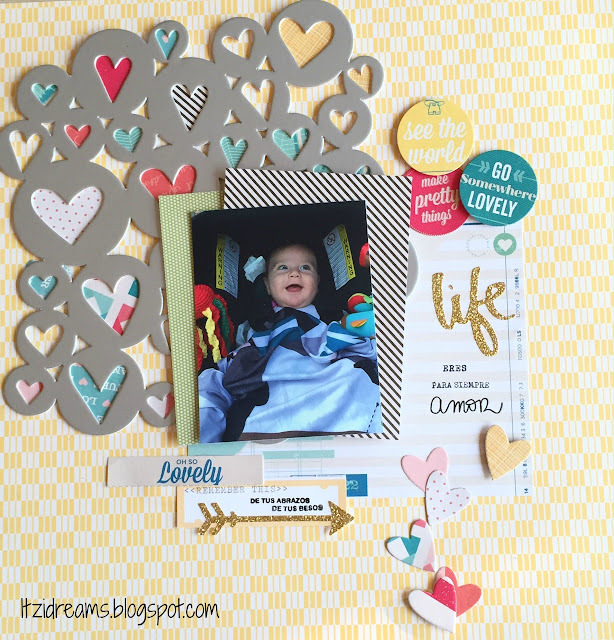 Itzidreams, Itzi Dreams,Clena and Simple, Lay Out, Scrapbooking, Shimelle, Scrap, Scrapbook,