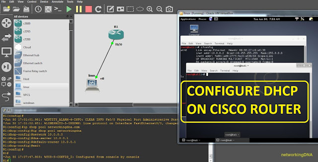 Gns3 lab configure dhcp on cisco router networkingdna for Cisco show pool dhcp