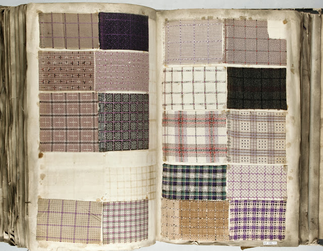 Antique Vintage Fabric Sample Book