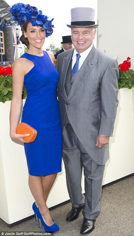 Sky News presenter Eamonn Holmes with co-host Isabel Webster on day 1 at Royal Ascot, 2014