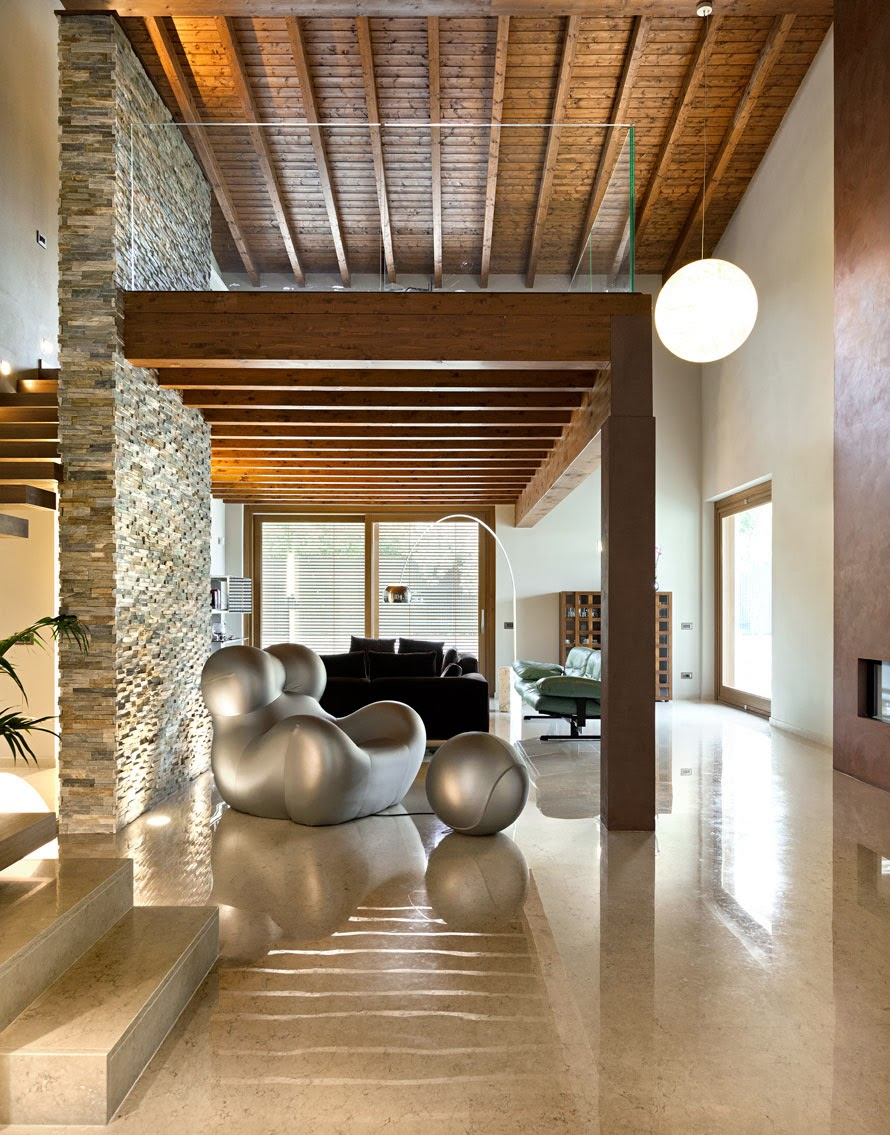 Italian style for Interni case moderne pietra