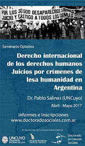 Derecho Internacional de los derechos humanos - Juicios por crímenes de Lesa Humanidad en Argentina