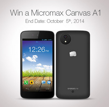 Amazon Social Contest to win Micromax Canvas A1