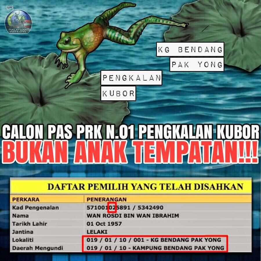 PAS Letak Penyamun Projek Mara Sebagai Calon N 01 PRKPengkalanKubor