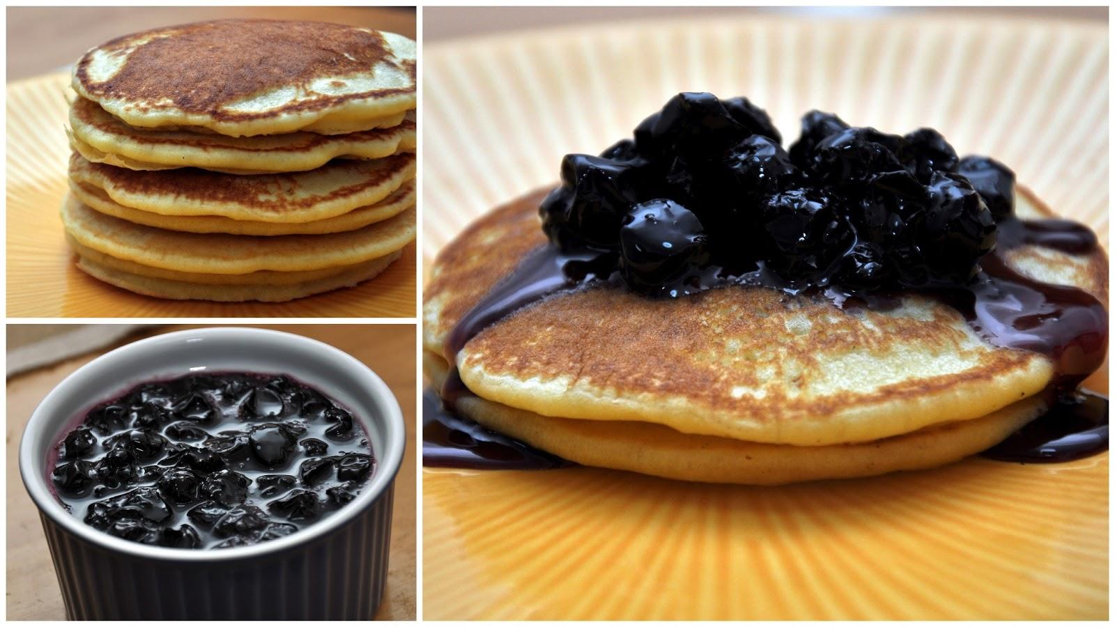 Light Fluffy Pancakes with Blueberry Sauce | Jyotsna's World