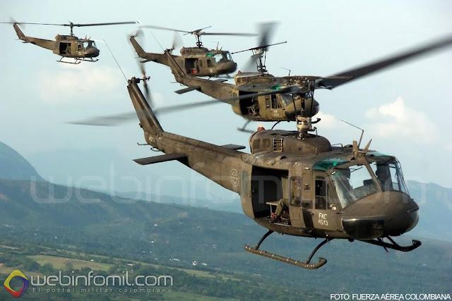 UH-1H Huey II Fuerza Aerea Colombiana