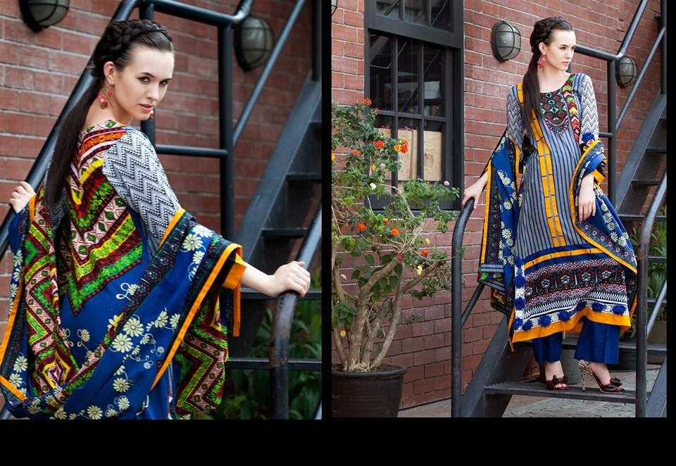 MonsoonLawn2014ByAl ZohaibTextile wwwfashionhuntworldblogspotcom 06 - Monsoon Lawn Spring/Summer Collection 2014