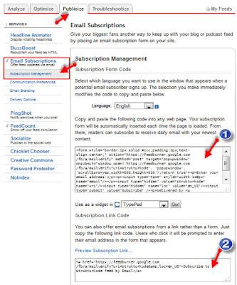 Bagaimana cara memasang widget email subcriber dengan feed burner pada blog Cara Membuat Widget Email Subcriber Feedburner pada Blog