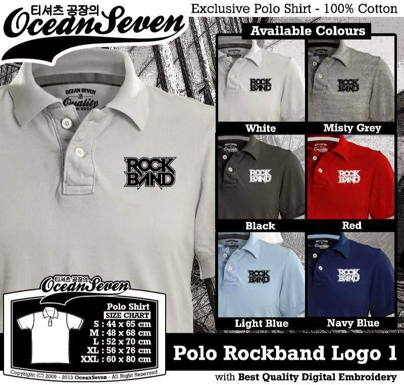Kaos Polo Rockband Logo 1