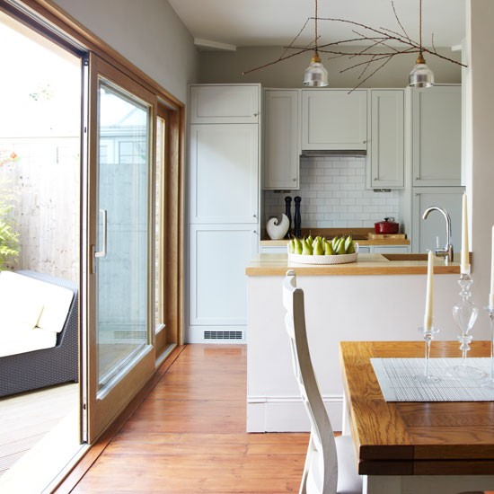 New home interior design step inside this light filled for Terrace kitchen diner