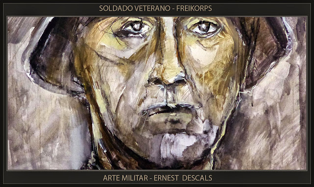 ARTE MILITAR-FREIKORPS-SOLDADOS-PINTURA-ALEMANIA-PERSONAJES-HISTORIA-ARTISTA-PINTOR-ERNEST DESCALS