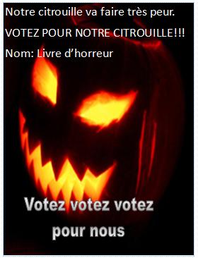 Classe cyber 3b 4b 2013 2014 - Citrouille epeurante ...