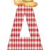 Alfabeto de Cuadros con Sombrero.