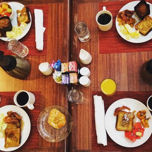 Breakfast buffet at Holiday Inn Hotel