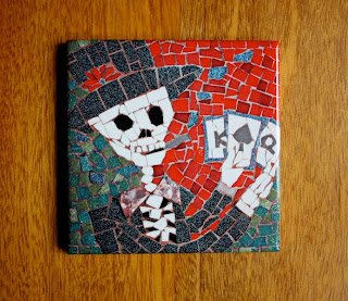 Jorge Playing Poker, Ceramic Tile by Juan is Dead