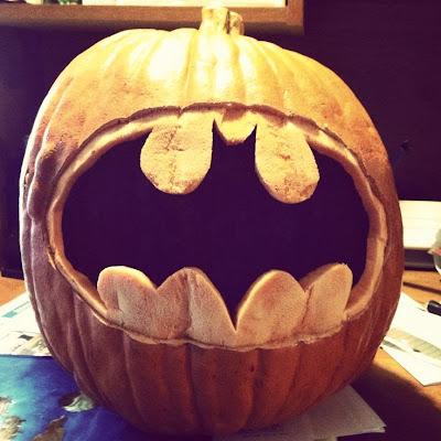 Batman Symbol Pumpkin