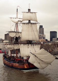 The Endeavour Replica. Endeavour  was a merchant ship, then bought and later sold by the Admiralty, was again a merchant ship and was contracted out to the Admiralty as a transport.
