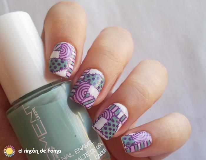 Patchwork nail art | el rincon de fama