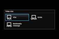 menu kamera