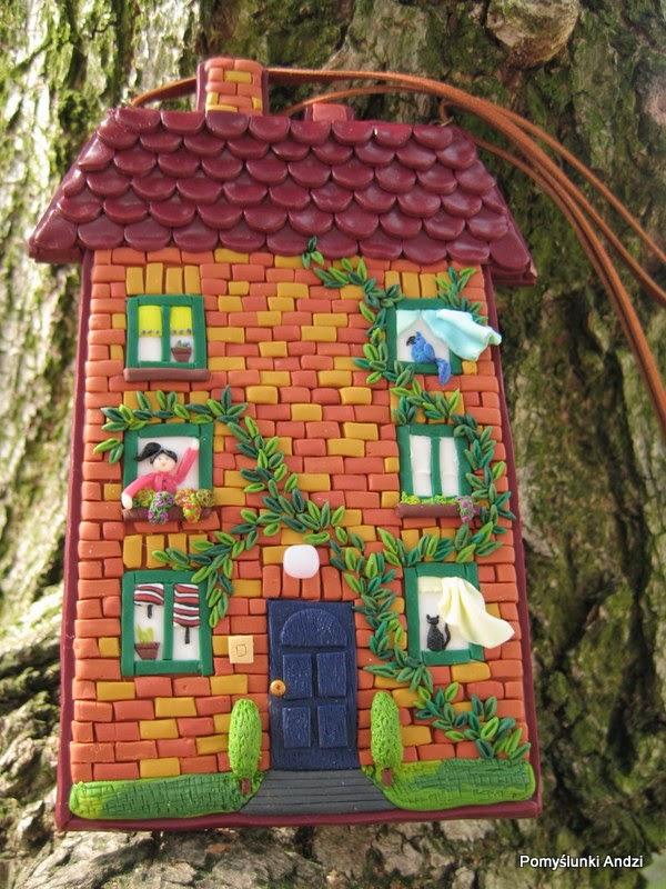 home, house, tiny, domek, zawieszka, dla dzieci, bricks,