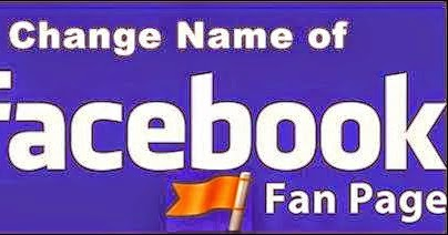 how to change facebook fan page name