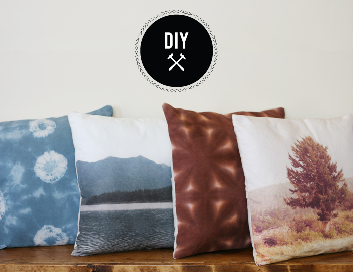 DIY - Hand Dyed Shibori Pillows | Poppytalk