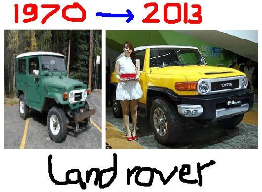 wajah klasik toyota land rover 2012