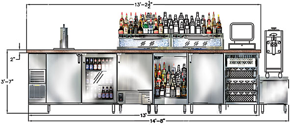 High Quality Bar Design Layout