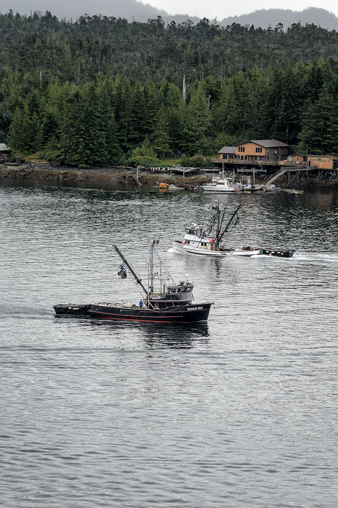 Fishing Boats Pass in Ketchikan, Alaska