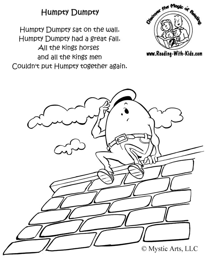 Inkspired Musings Nursery Rhymes With Humpty Dumpty Humpty Dumpty Coloring Pages