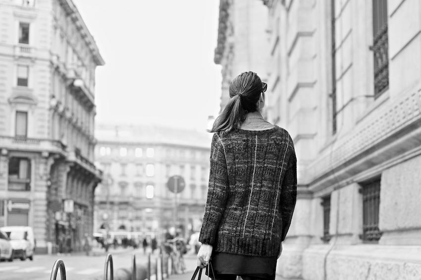 street style milano tartan sweater - maglione tartan