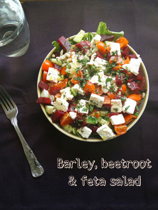 beetroot feta salad
