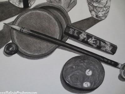 charcoal drawing, charcoal artist, travel art, travel artist, china art, asian art, travel, still life art, malinda prudhomme, original artwork