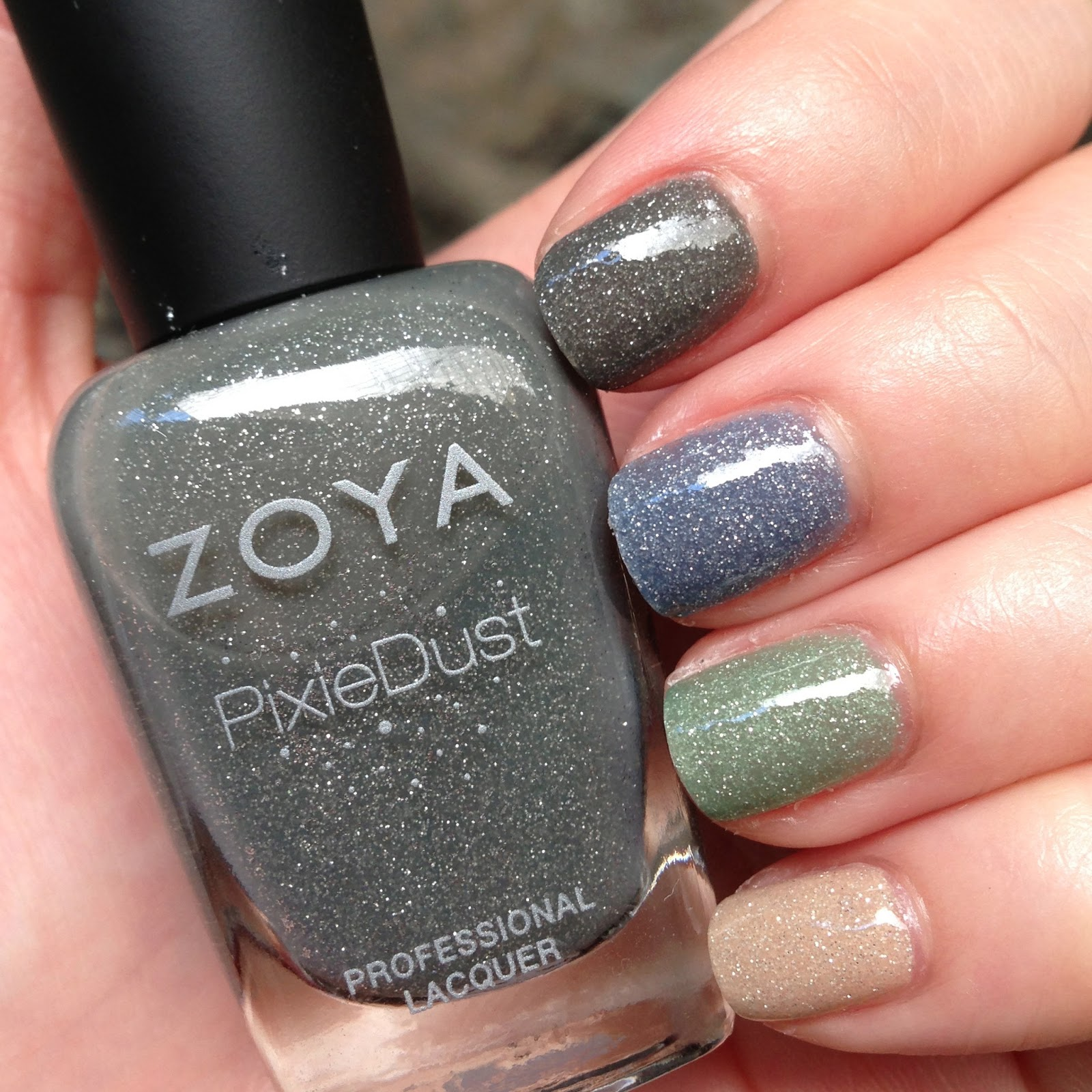 Zoya PixieDust In London Fog Gray Sparkle