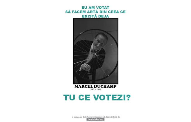 the art student vote campaign university of arts iasi art students initiatives marcel duchamp