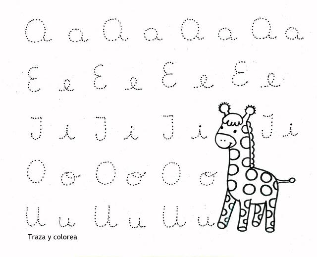 Aprestos de vocales para imprimir - Imagui