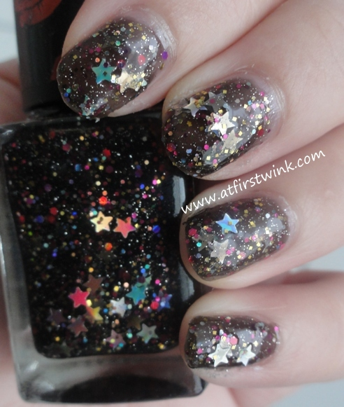 Modi Christmas 2012 nail polish 04 - eve night on nails, swatches