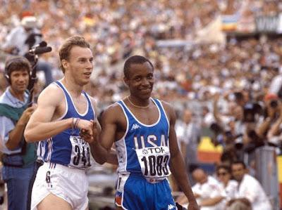 Roma 1987 - Calvin Smith y Gilles Quénéhervé